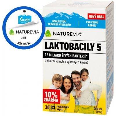 Swiss NatureVia Laktobacily 5 Imunita 33 kapslí – vše o zdraví
